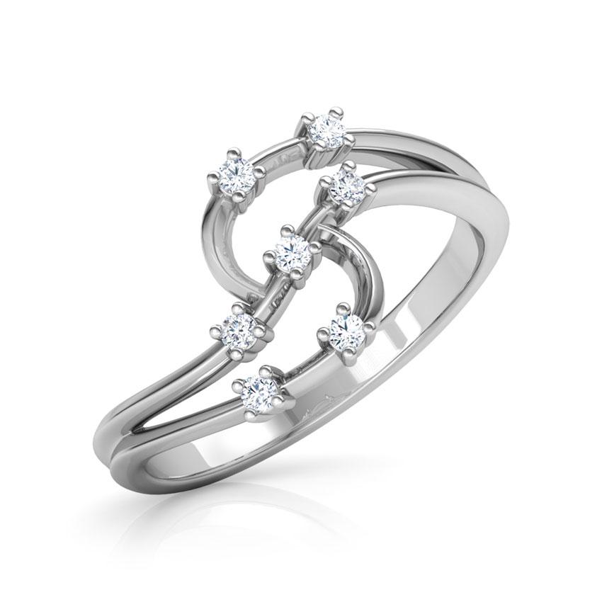 Diamond Rings 14 Karat White Gold Kesha Radiant Diamond Ring