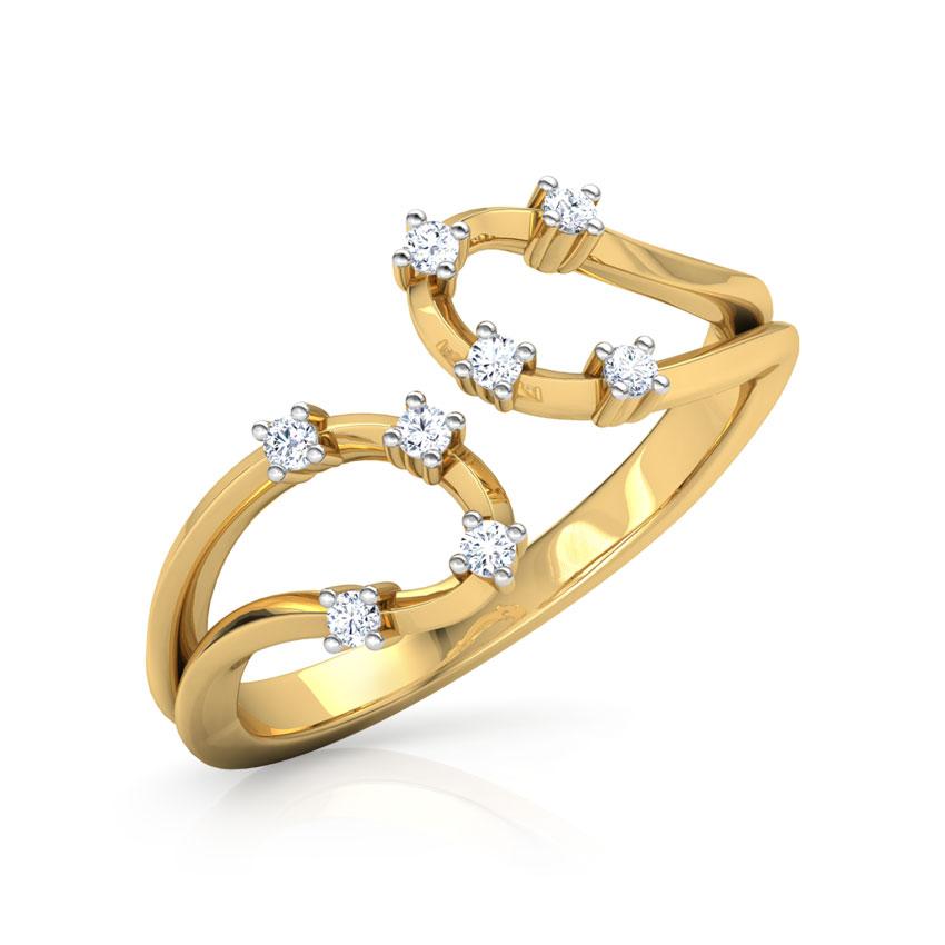 Diamond Rings 18 Karat Yellow Gold Lisha Sparkle Diamond Ring