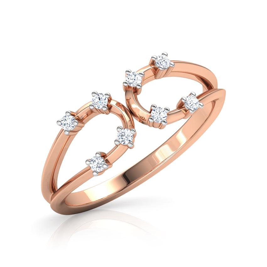 Diamond Rings 18 Karat Rose Gold Joana Sheen Diamond Ring
