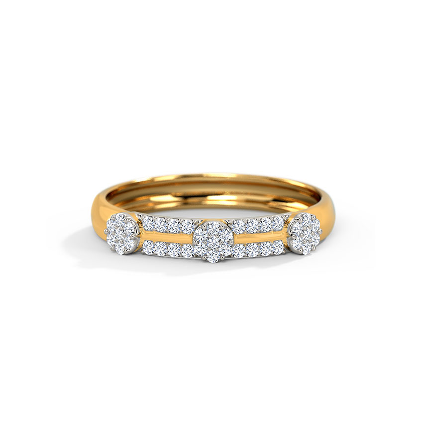 Cluster Rows Diamond Band