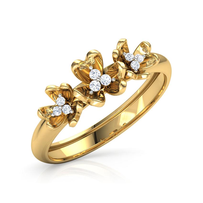 Trillium Floral Diamond Band