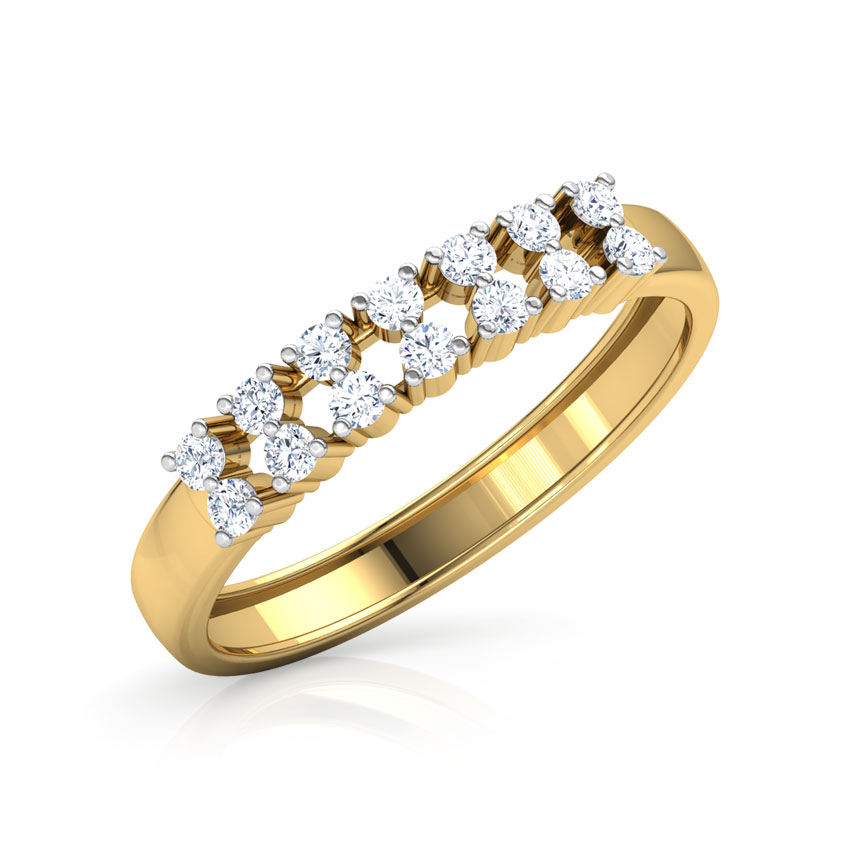 Dual Row Diamond Band