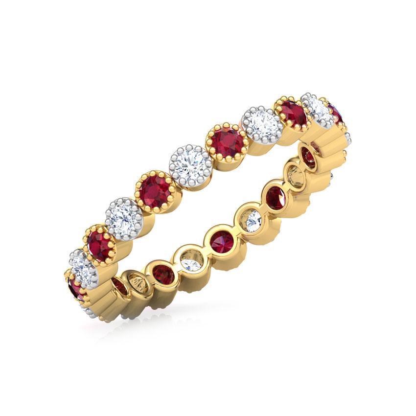 Gemstone Eternity Ring