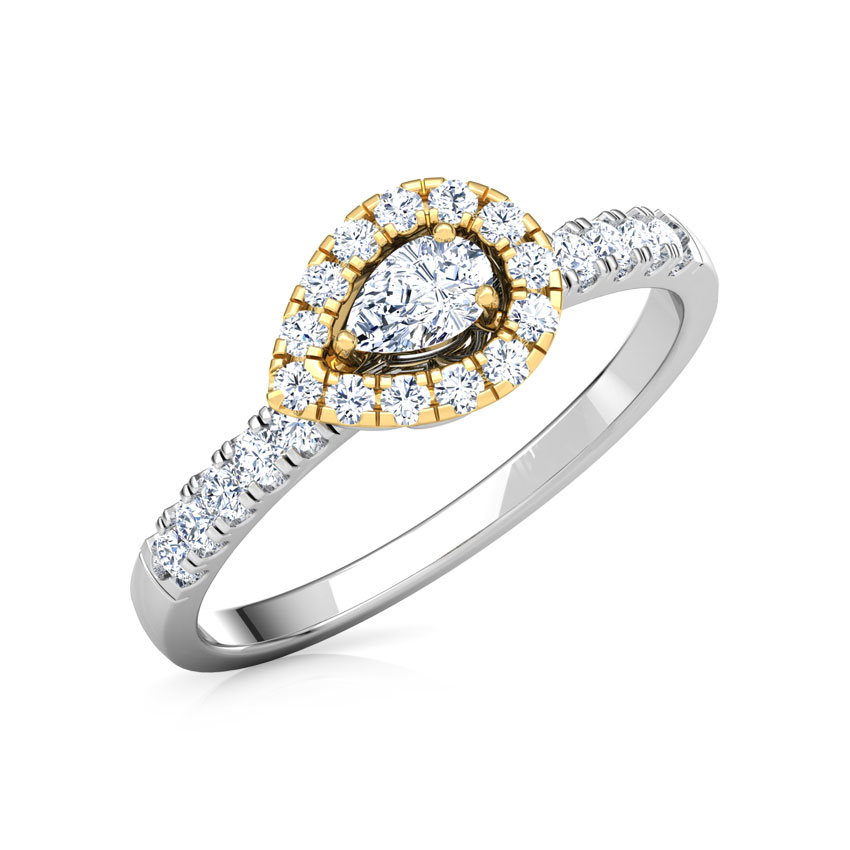 Glittering Pear Promise Ring