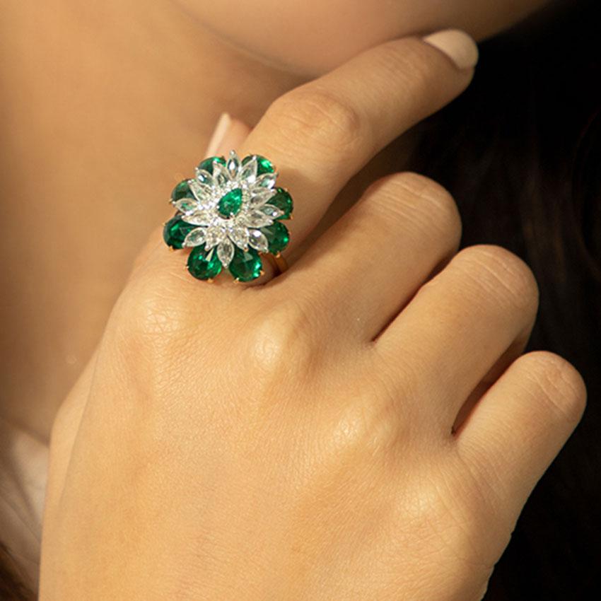 Alfiya Bloom Ring