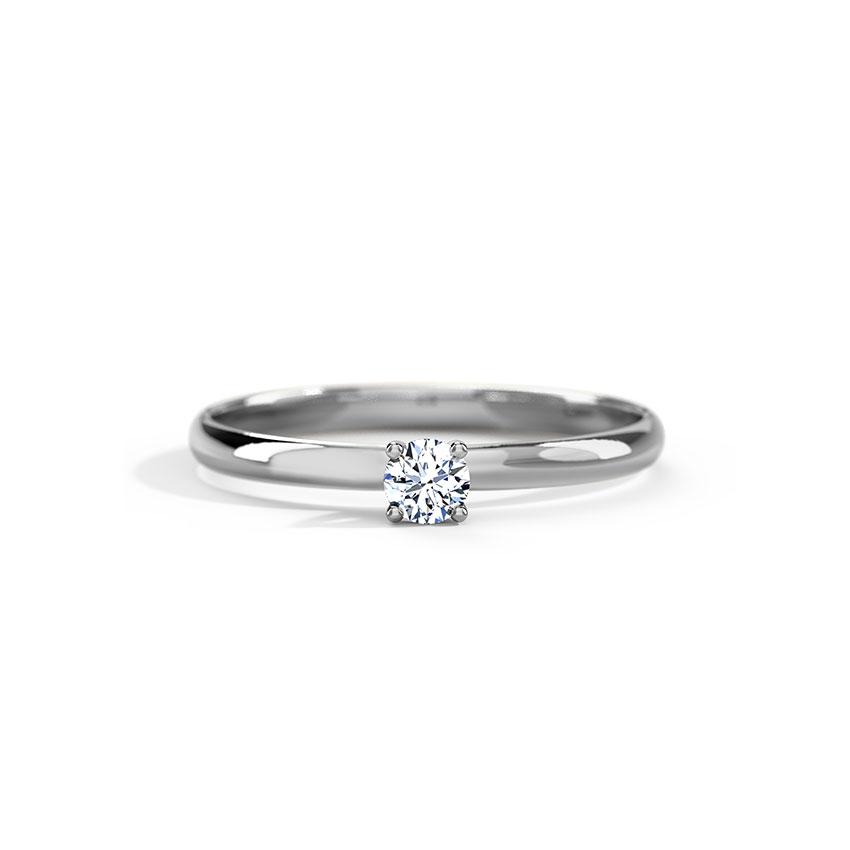 Classic Platinum Diamond Ring