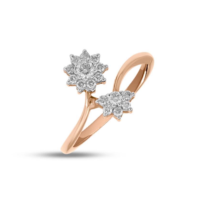 Diamond Rings 18 Karat Rose Gold Duo Gleaming Diamond Ring