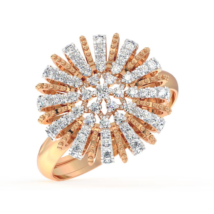 Diamond Burst Cocktail Ring
