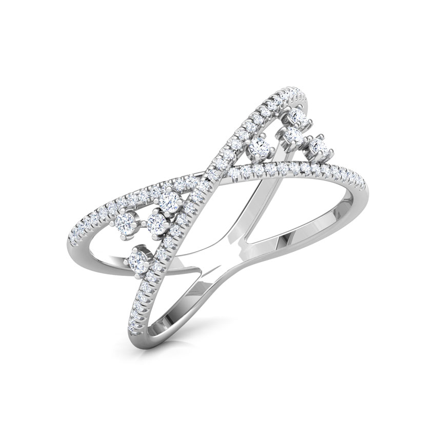 Diamond Rings 18 Karat White Gold Chic Cluster Diamond Ring