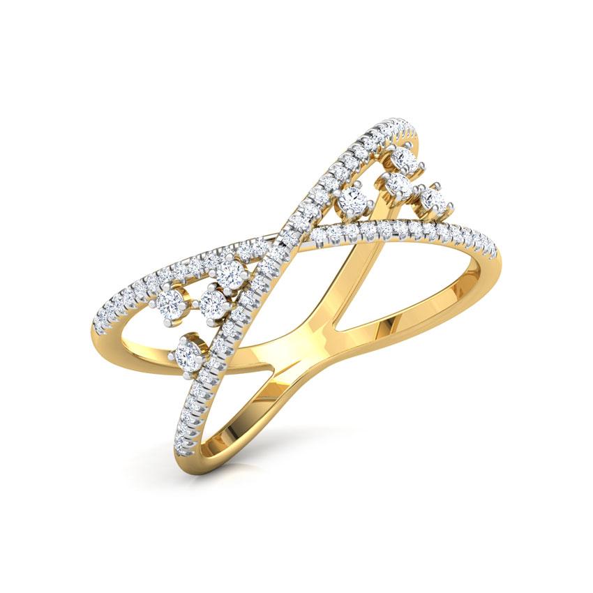 Diamond Rings 18 Karat Yellow Gold Chic Cluster Diamond Ring