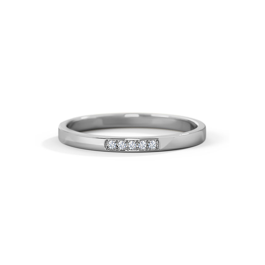 Cinda Platinum Band for Her