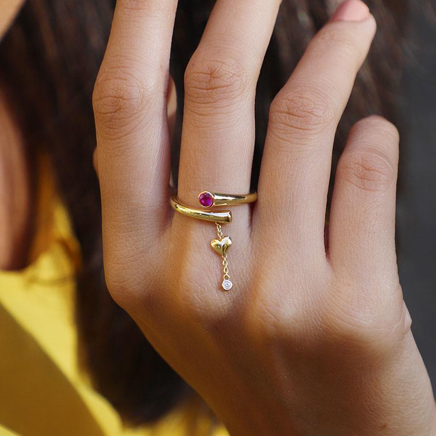 Adore Love Lock Ring