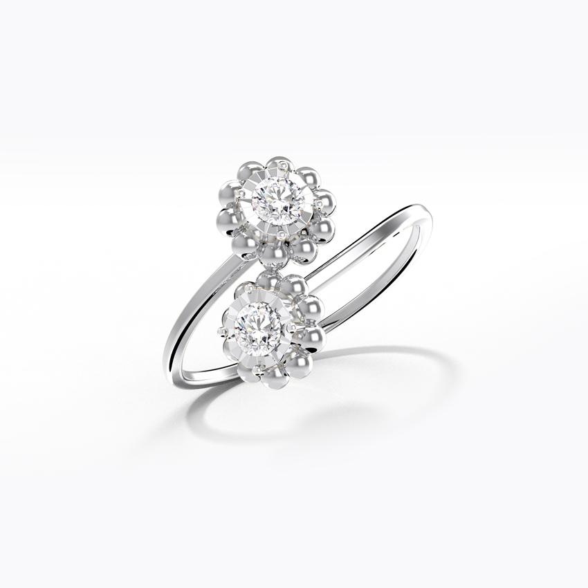 Diamond Rings 14 Karat White Gold Blooming Miracle Plate Diamond Ring