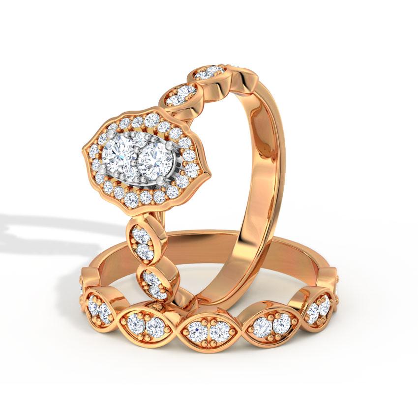 Glinting Bridal Ring Set