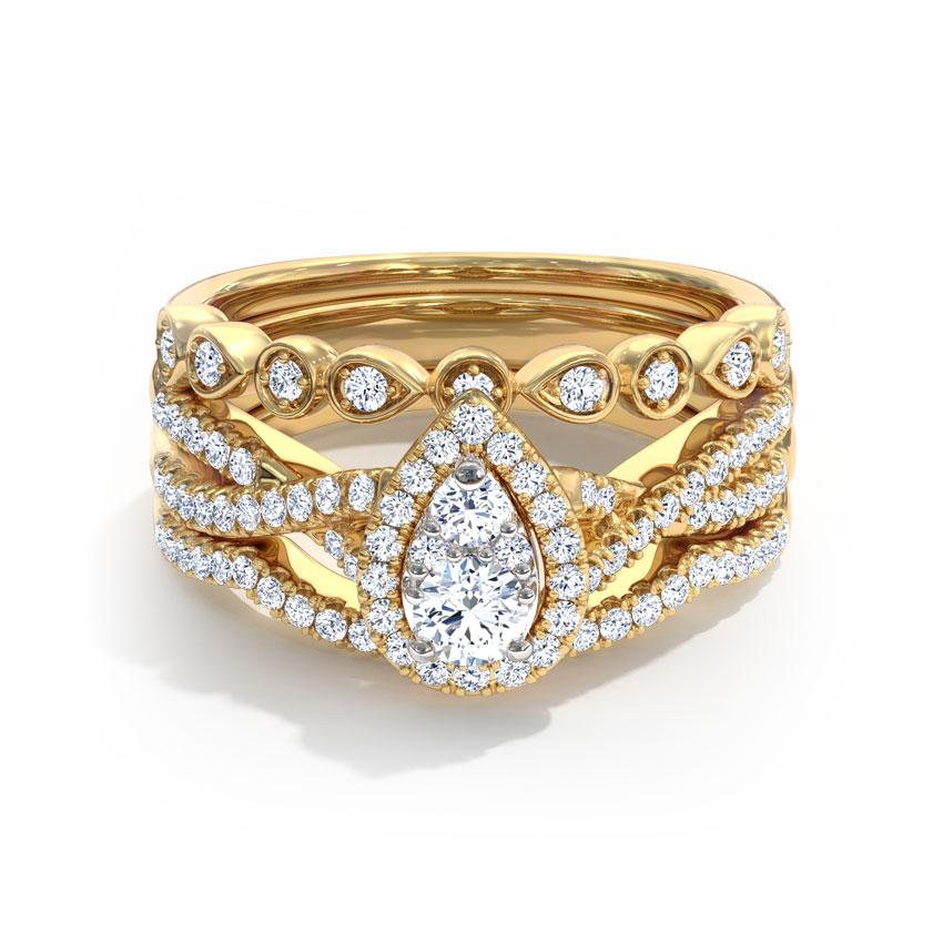 Shimmering Bridal Ring Set