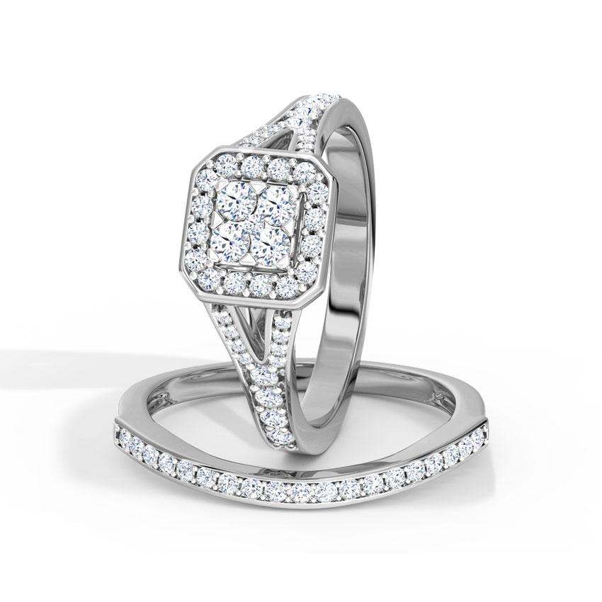 Glowing Bridal Ring Set