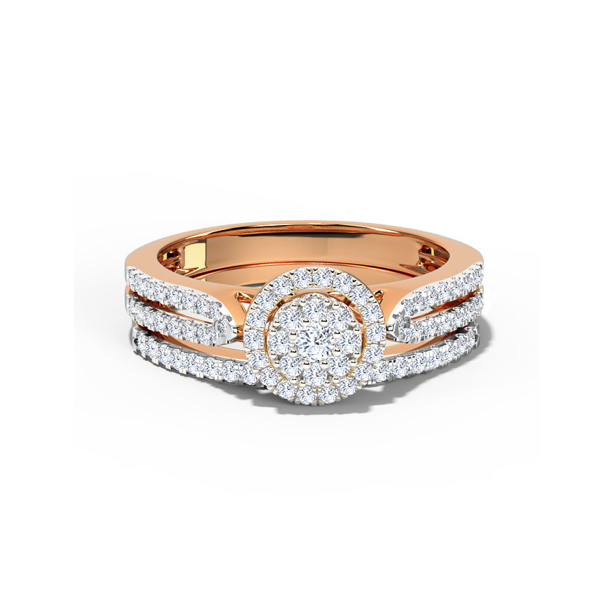 Radiating Bridal Ring Set