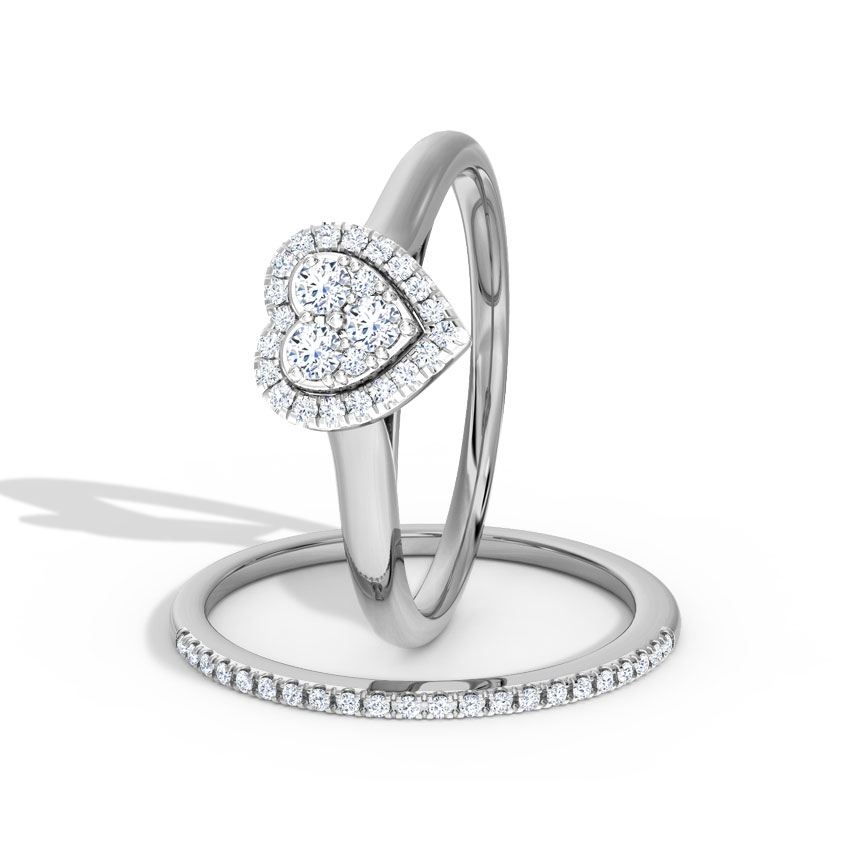 Scintillating Bridal Ring Set