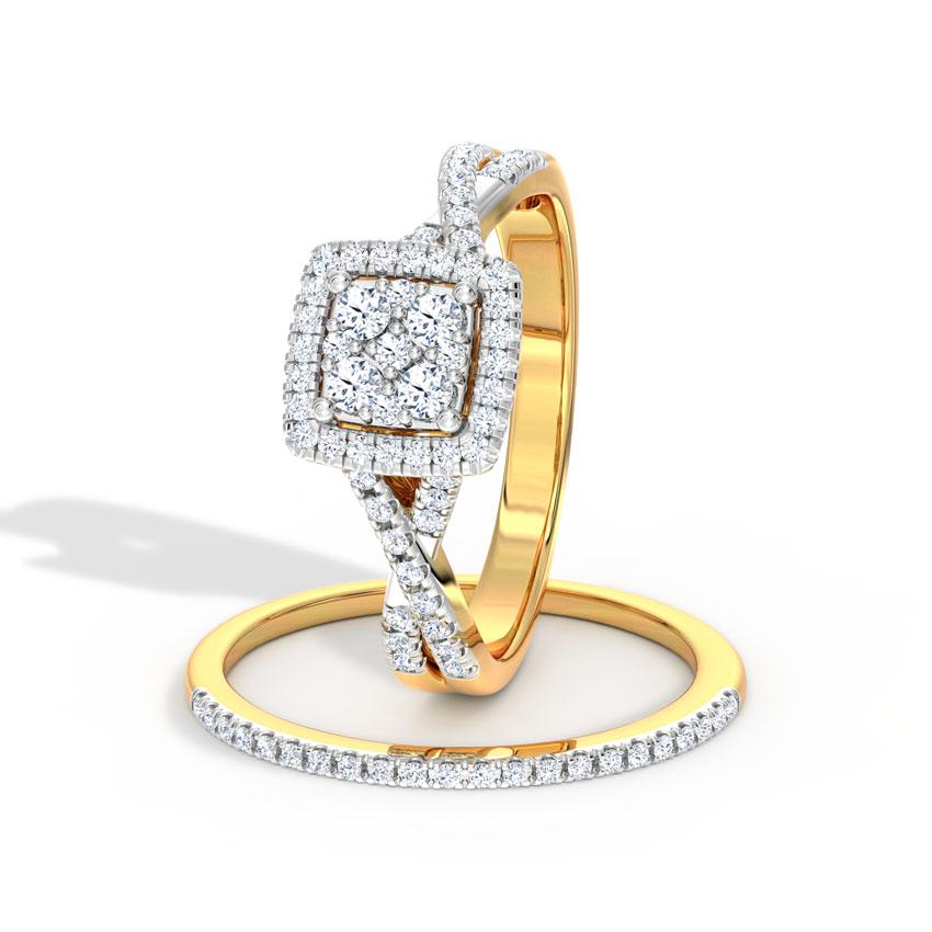 Flashing Bridal Ring Set