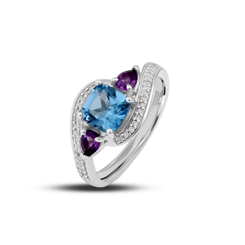 Diamond,Gemstone Rings 18 Karat Rose Gold Dazzled Surprise Diamond Ring