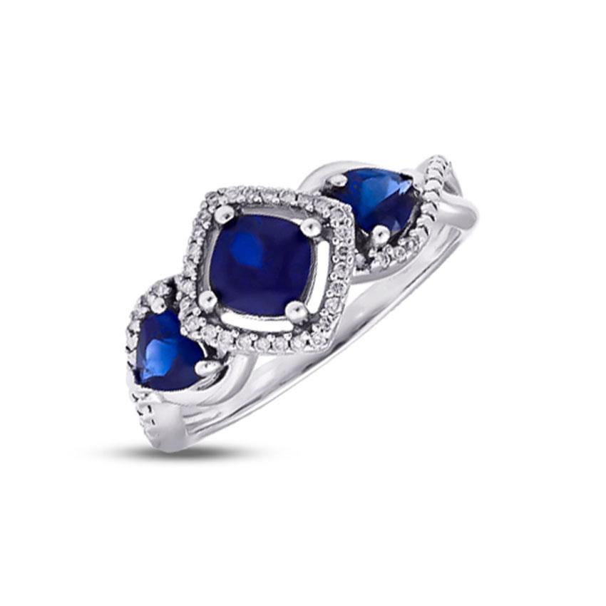 Diamond,Gemstone Rings 18 Karat White Gold Royal Bliss Diamond Ring