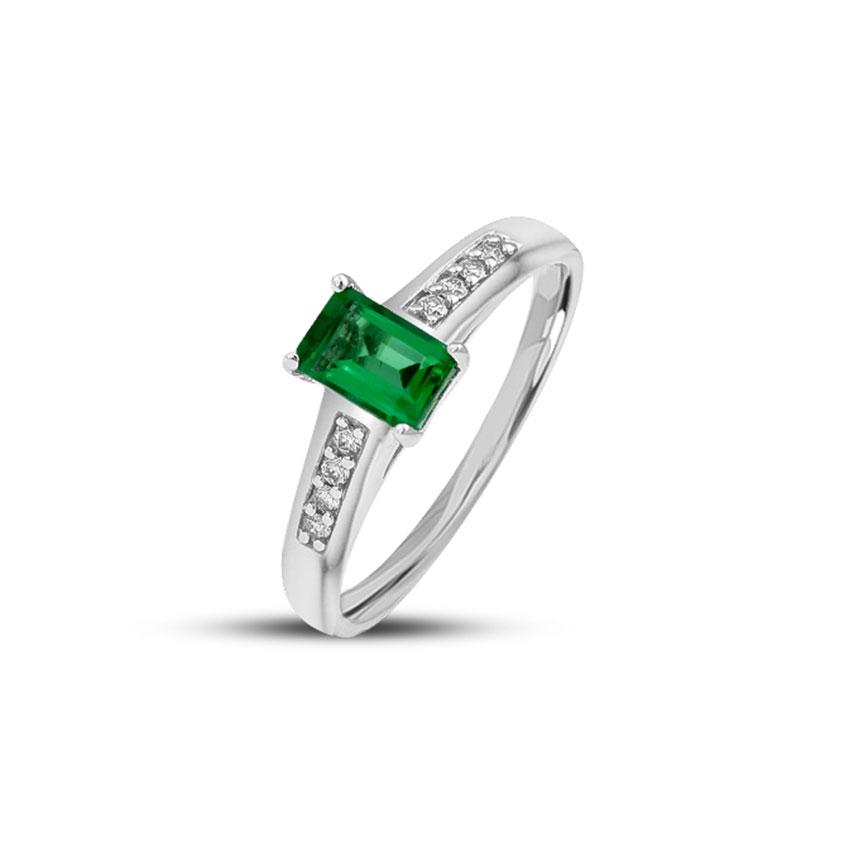 Diamond,Gemstone Rings 14 Karat Rose Gold Sparkling Diamond Ring