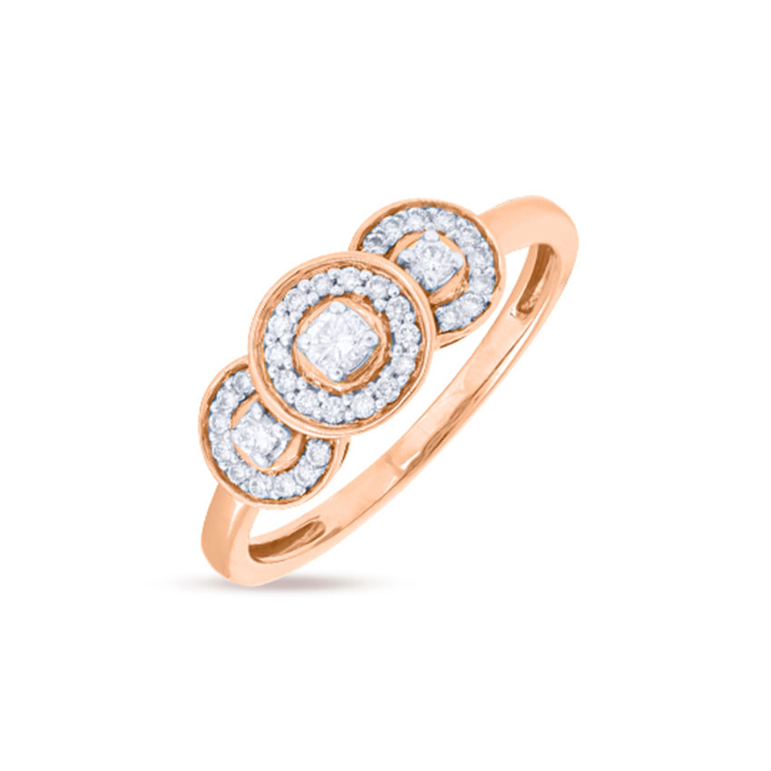 Triple Halo Ring