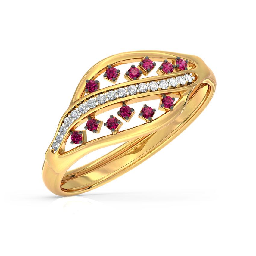 Diamond,Gemstone Rings 18 Karat Yellow Gold Colour Pop Waves Diamond Ring