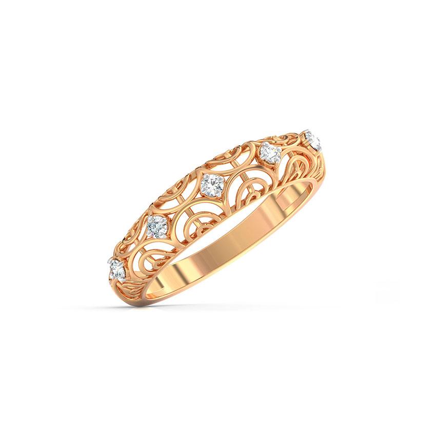 Diamond Rings 18 Karat Rose Gold Royal Lattice Diamond Ring