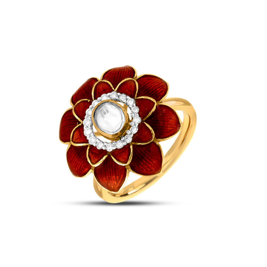 Scarlet Flower Ring