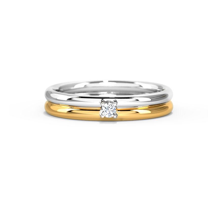 Diamond Rings 14 Karat Two Tone Gold Classic Two-Tone Diamond Ring