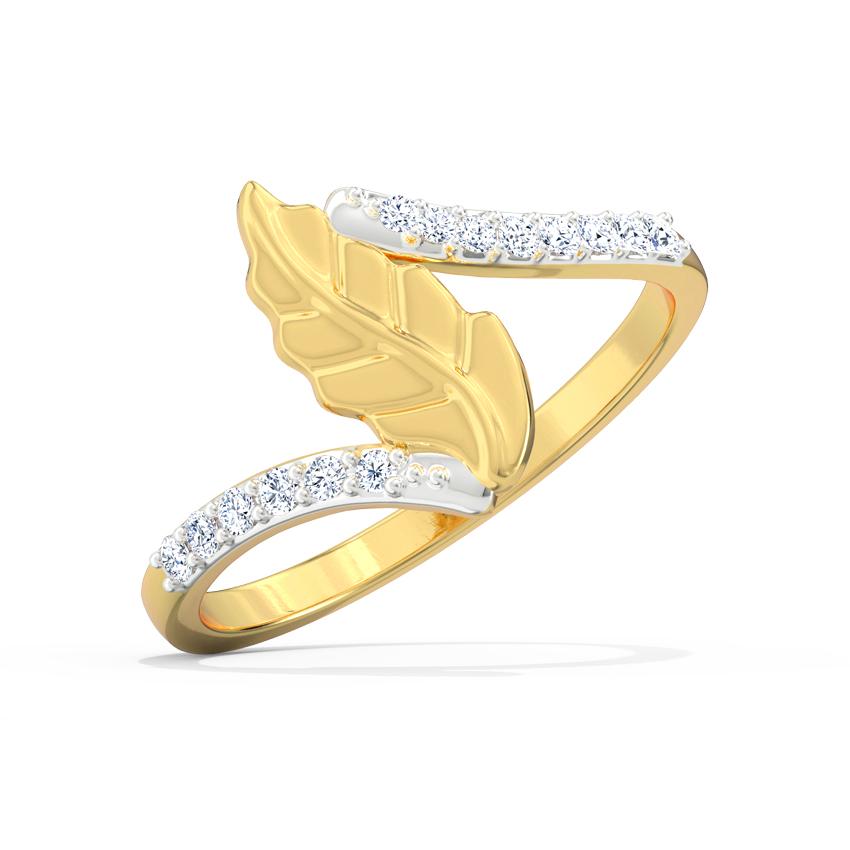 Akshara Leaf Ring