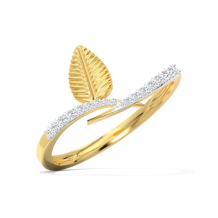 Maya Leaf Ring
