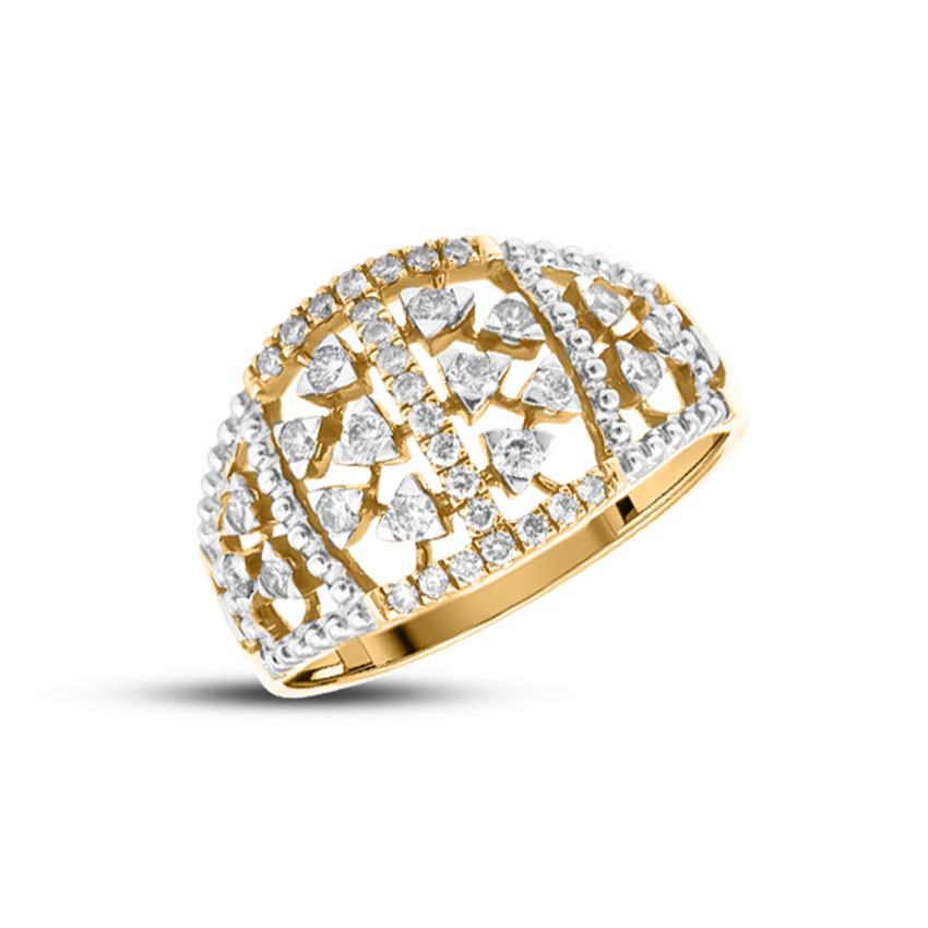 Diamond Rings 18 Karat Yellow Gold Glorious Diamond Ring