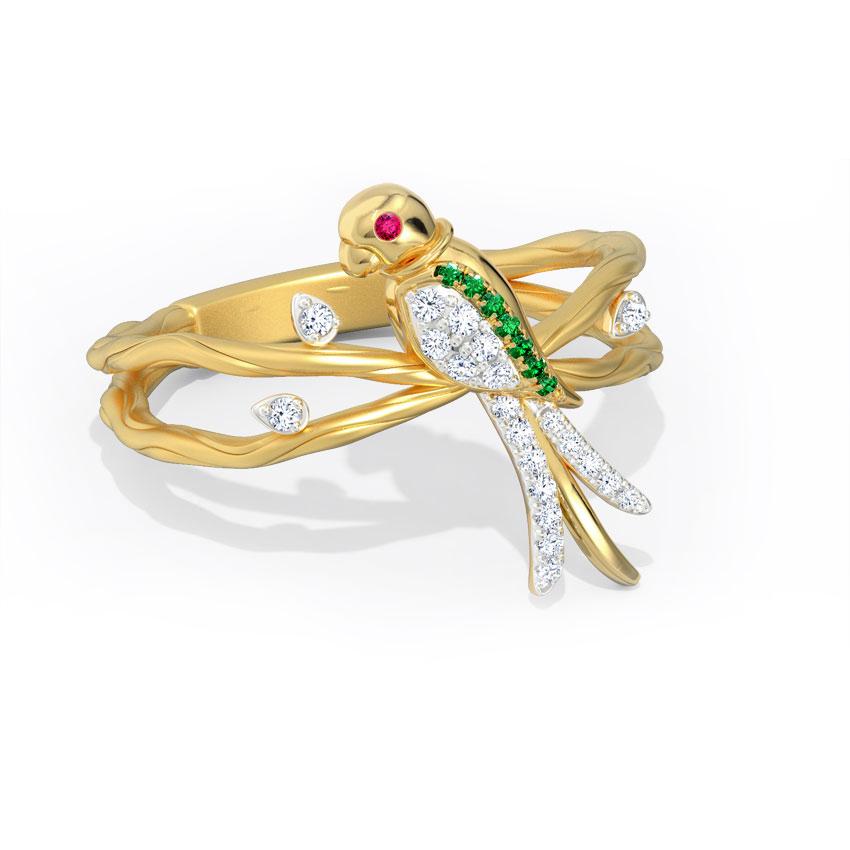 Jovial Parrot Ring