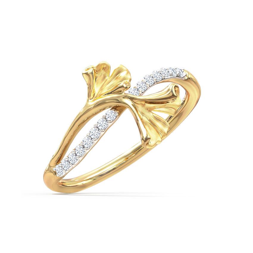 Charming Ginkgo Ring