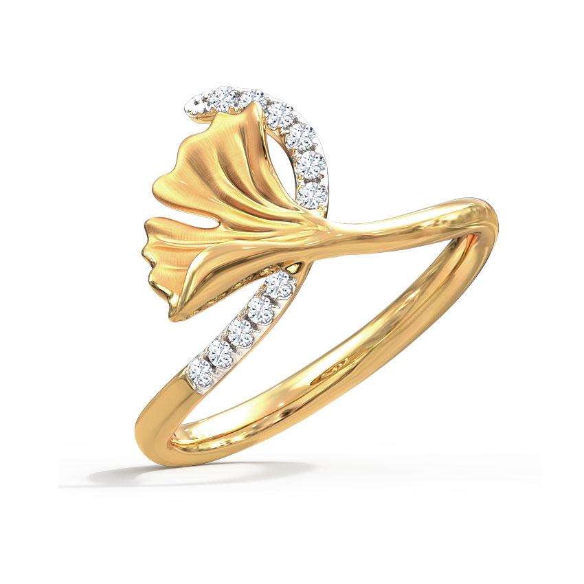 Pretty Ginkgo Ring