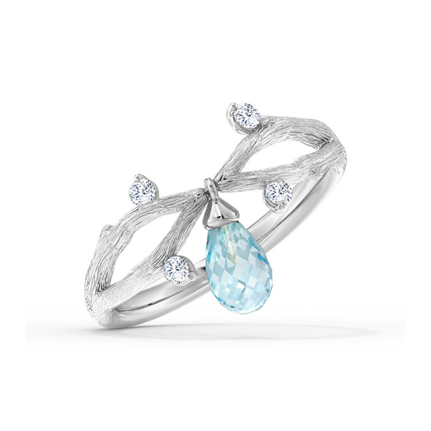 Entwine Dangle Dewdrops Ring