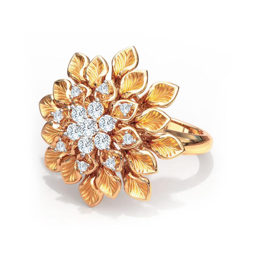 Diamond Rings 18 Karat Rose Gold Dahlia Diamond Ring