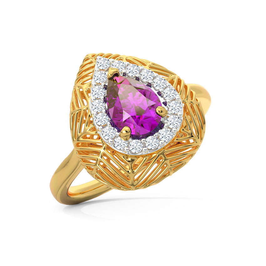 Lattice Amethyst Ring