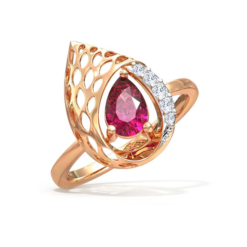 Cerise Swerve Ring