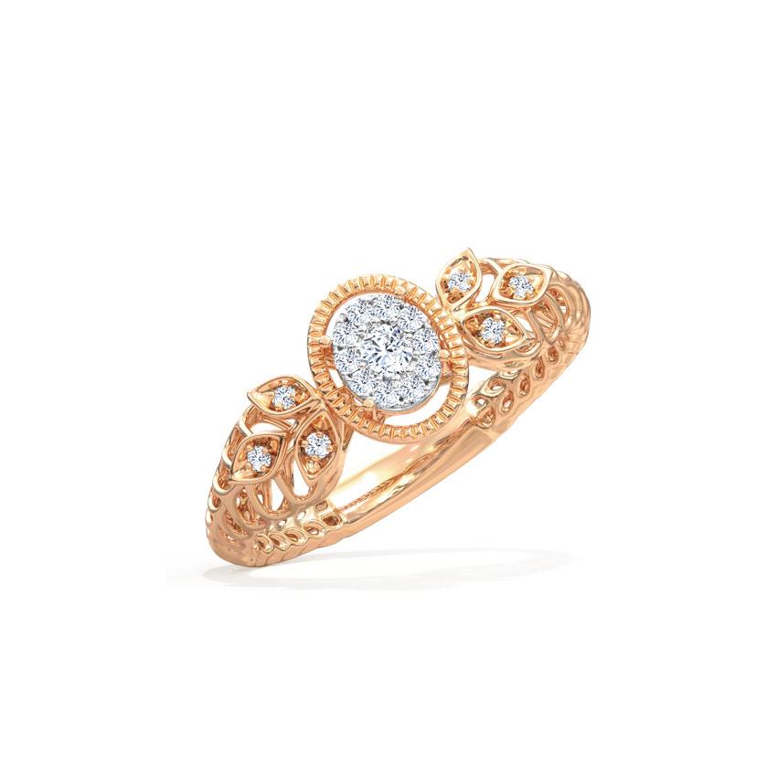 Diamond Rings 14 Karat Two Tone Gold Glory Mesh Diamond Ring