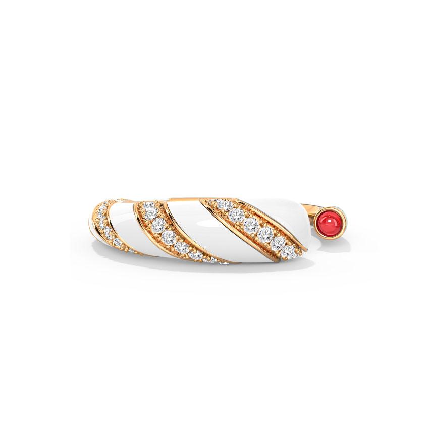 Diamond,Gemstone Rings 18 Karat Rose Gold Stella Diamond Ring