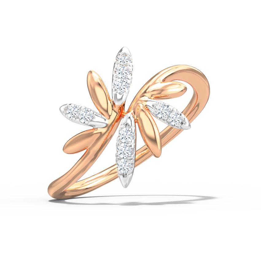 Diamond Rings 14 Karat Rose Gold Aubri Diamond Ring