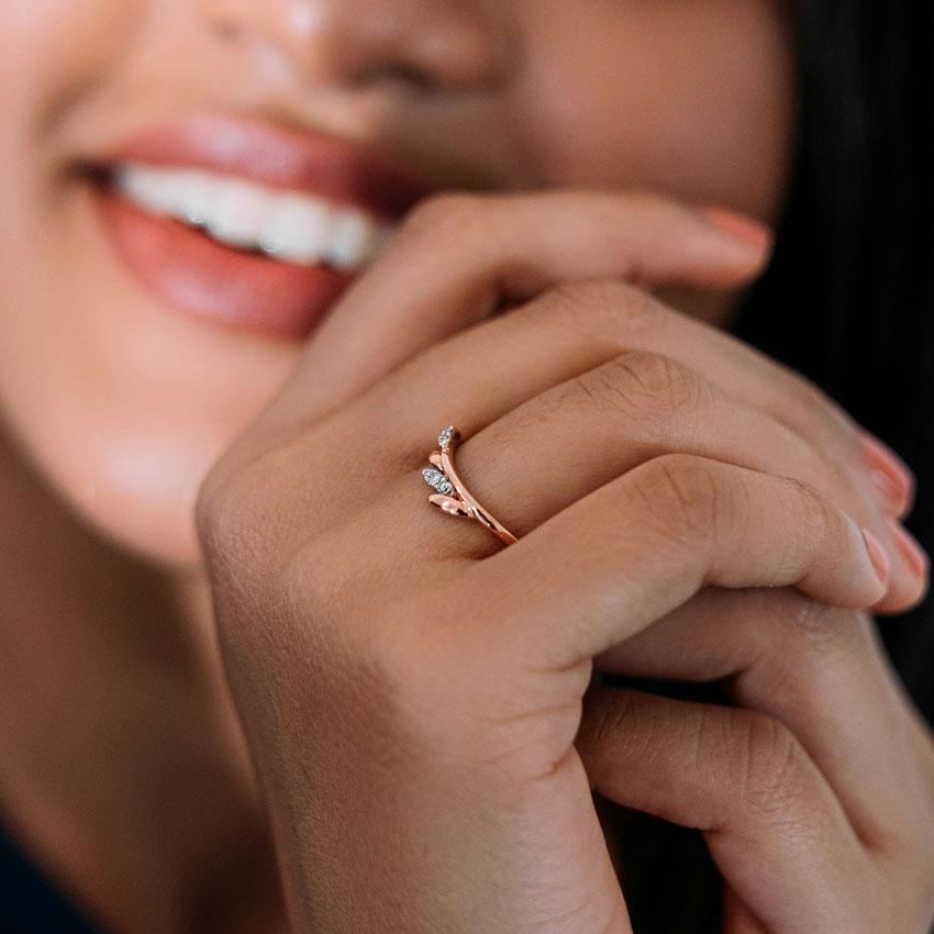 Diamond Rings 14 Karat Rose Gold Clara Diamond Ring