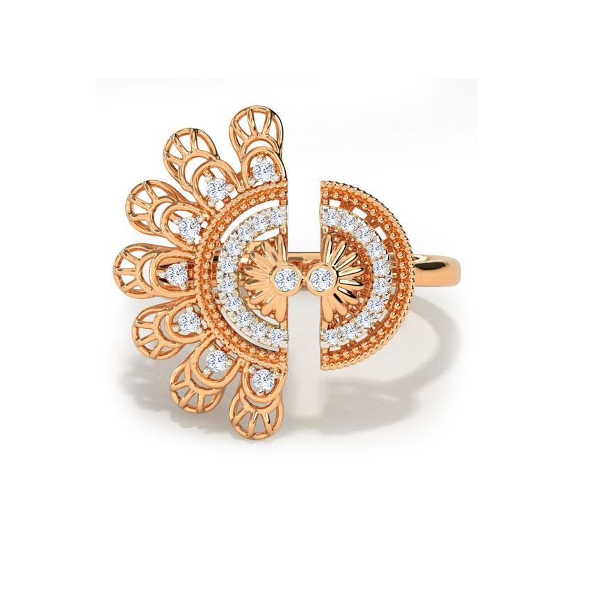 Diamond Rings 18 Karat Rose Gold Cori Intricate Diamond Ring