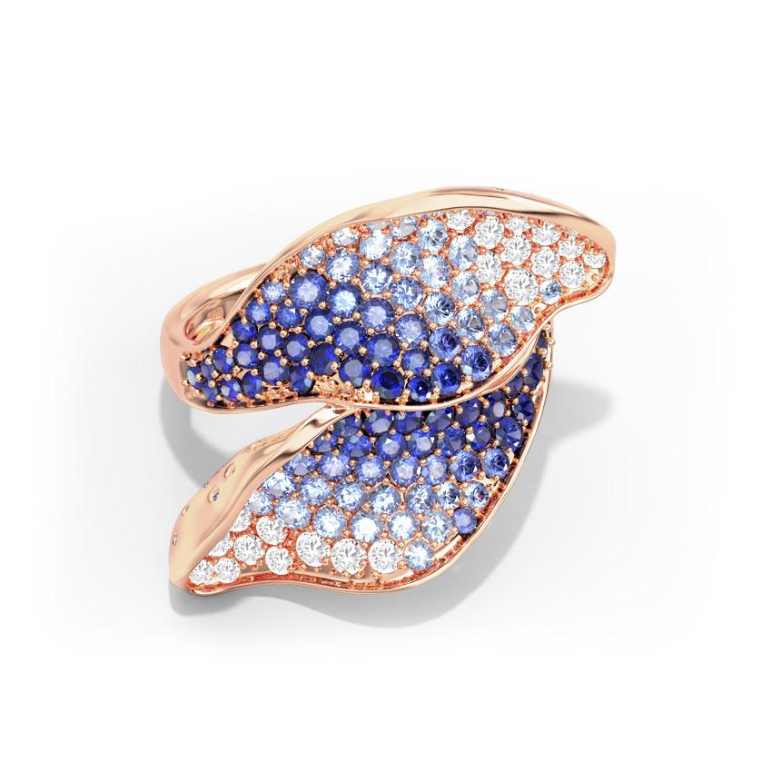 Diamond,Gemstone Rings 18 Karat Rose Gold Lulu Shimmer Diamond Ring