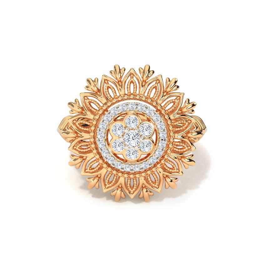 Diamond Rings 18 Karat Rose Gold Layana Cluster Diamond Ring