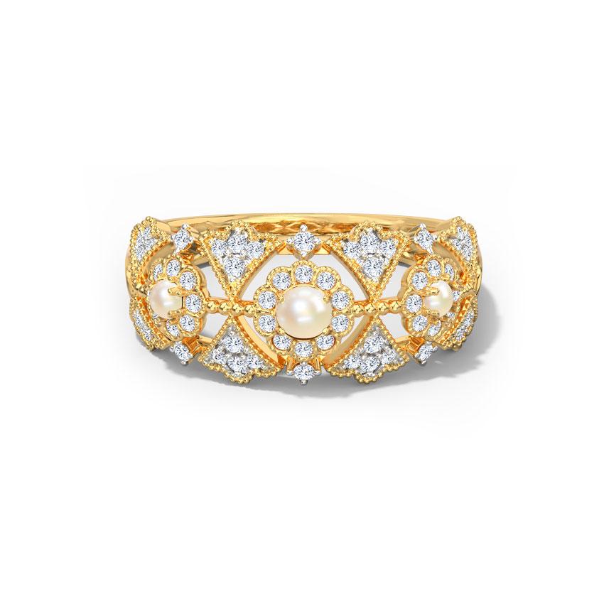 Diamond,Gemstone Rings 18 Karat Yellow Gold Elizabeth Diamond Ring