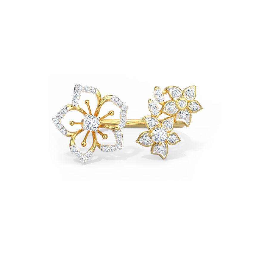 Diamond,Gemstone Rings 18 Karat Yellow Gold Beatrice Diamond Ring